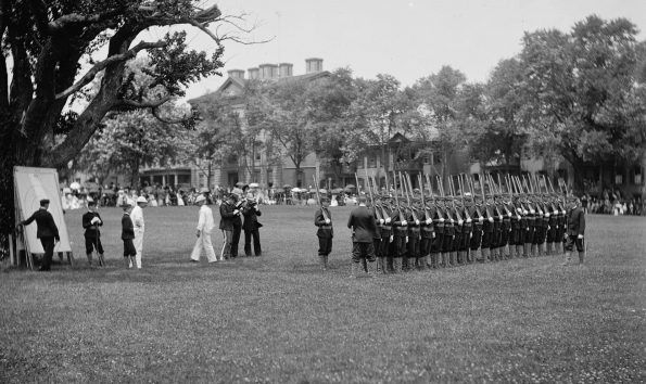 Cadets drilling, U.S. Naval Academy 1890