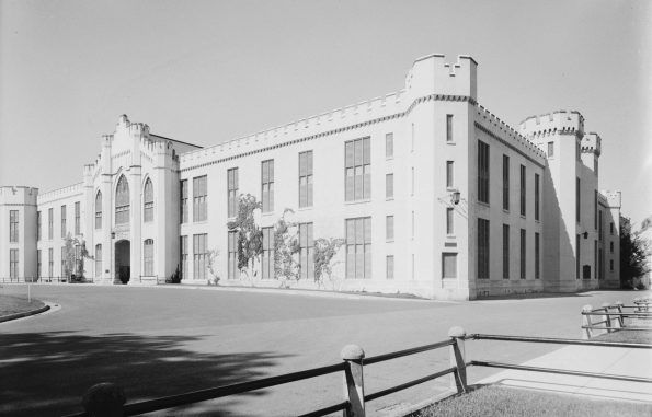 Photo of the Virginia Military Institute Barracks, circa 1930's