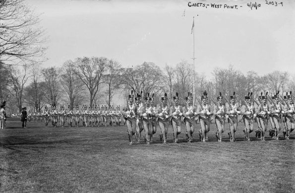 West Point Cadets marching in 1910